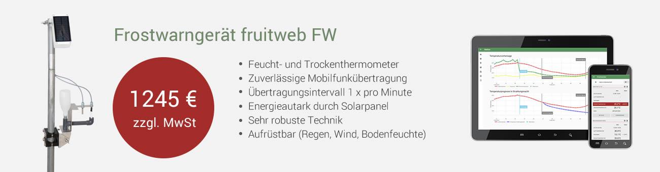 Angebot Frostwarngerät fruitweb FW