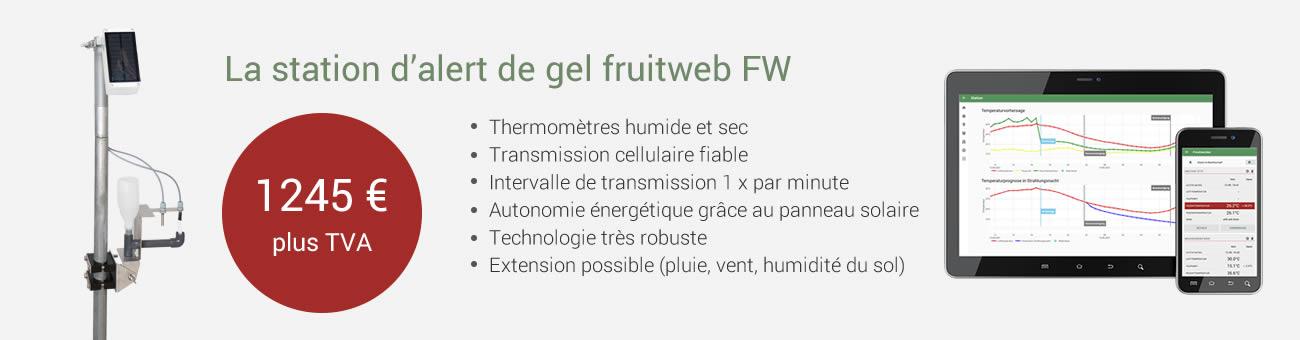 Offre station d'alerte au gel fruitweb